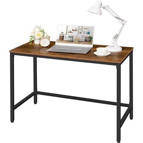 """main image of """"Office Desk, Simple Computer Desk, Writing Desk, Work Table for Office and Home Study, 100 x 50 x 75 cm, Easy Assembly, Sturdy Metal Frame, HOOBRO EBF50DN01 - Rustic Brown and Black"""""""