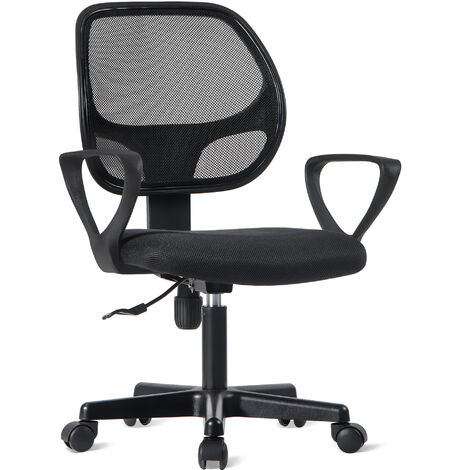 Office Essentials Mesh Desk Chair with Torsion Control, Blac
