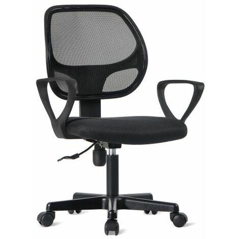 Office Essentials Mesh Desk Chair with Torsion Control, Black