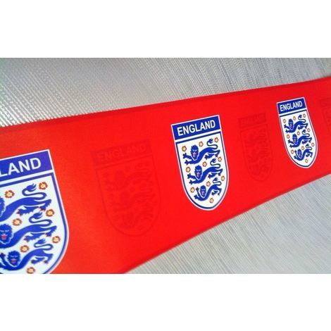 Official Licensed England Red Emblem Football Wallpaper Border