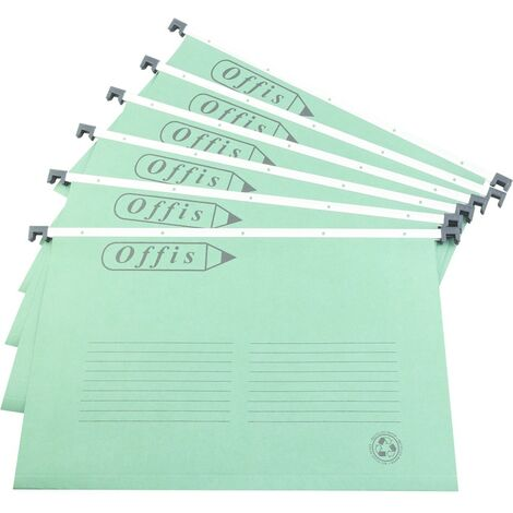 Offis Suspension Files (Pack-50) Foolscap Green