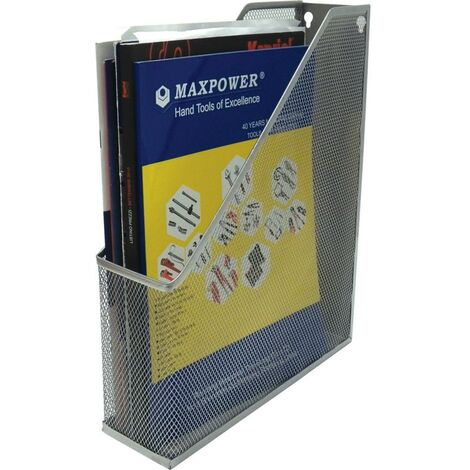 Offis Wire Mesh Magazine File Silver