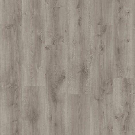 Offre Pro-Boite 7 lames PVC clipsables - 1,61 m² - iD Inspiration click 55 -RUSTIC OAK-MEDIUM gris - TARKETT