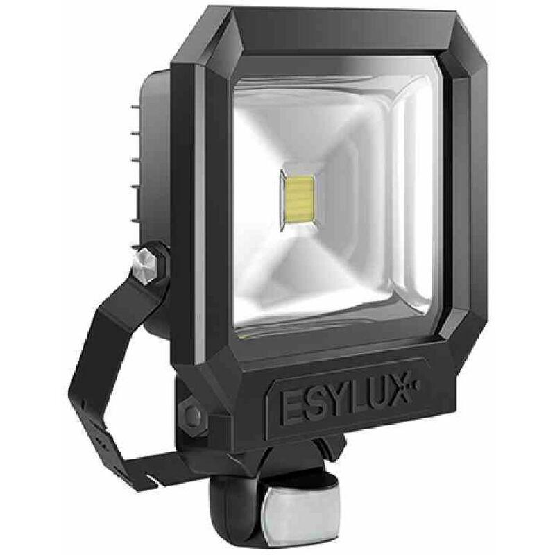 OFL/AFL SUN LED-Strahler 50W 1 LED schwarz matt + Bewegungsmelder Außenleuchte - ESY-LUX