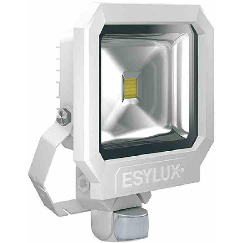 OFL/AFL SUN LED-Strahler 50W 1 LED weiß matt + Bewegungsmelder Außenleuchte TOP - ESY-LUX