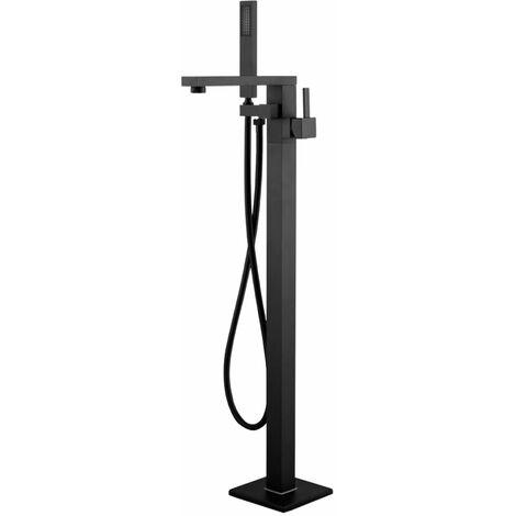 Ogomondo miscelatore a pavimento per vasca freestanding black calcutta in ottone *** confezione 1