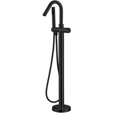 Ogomondo miscelatore a pavimento per vasca freestanding black delhi in ottone *** confezione 1