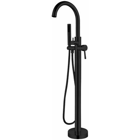Ogomondo miscelatore a pavimento per vasca freestanding black mumbai in ottone *** confezione 1