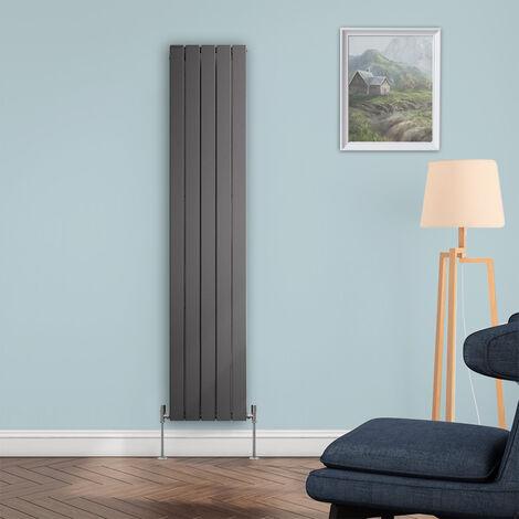 Ohio Anthracite 1800 x 376 Vertical Flat Panel Designer Radiator Central Heating