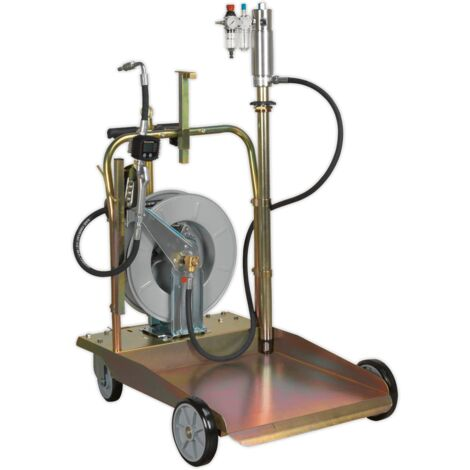 Oil Dispensing System Air Operated with 10m Retractable Hose Reel