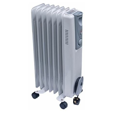 """main image of """"Oil-Filled Radiator 1.5kW White - HID52654"""""""