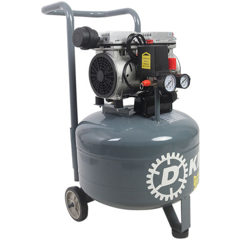 Oil Free Air Compressor 30L Litres 2.5HP Low Noise 1400RPM Upright Machine Wheel