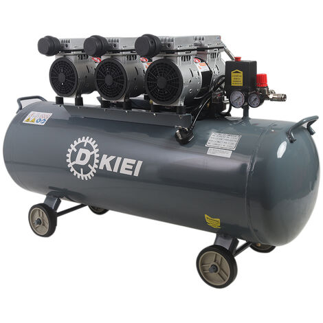 """main image of """"Oil Free Silent Air Compressor 120 Litre Low Noise (<60dB) 4.5HP 115PSI +Wheels"""""""