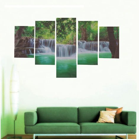 Oil Painting Huge Tree Waterfall Modern Abstract Art Wall Decoration Unframed