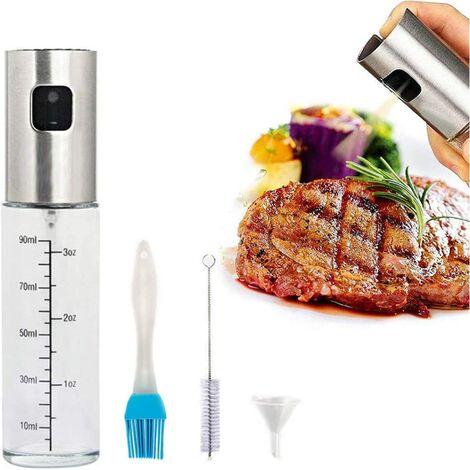 Oil Spray Bottle, 304 Stainless Steel Olive Oil Spray Bottle Glass, for BBQ / Kitchen / Salad