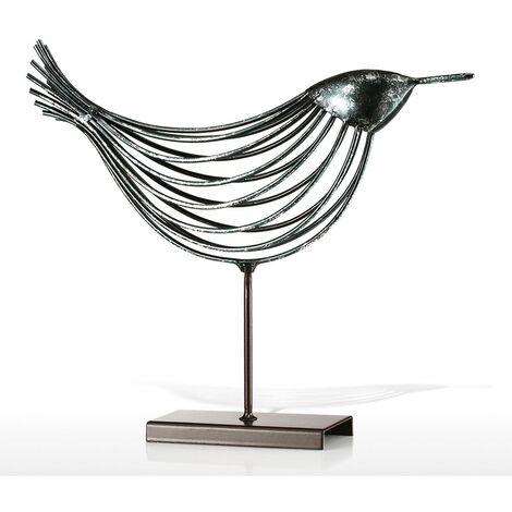 Oiseau de fil Tooarts Sculpture en m¨¦tal D¨¦coration de la maison Oiseau de d¨¦coration cr¨¦ative