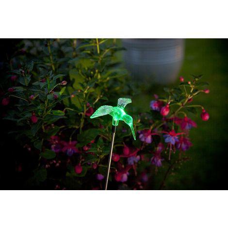 "Oiseau solaire à planter ""Colibri""- multicolore"