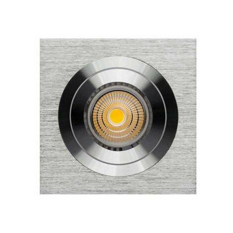 Ojo de buey empotrar aro cuadrado aluminio rayado