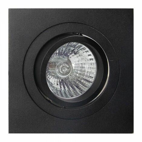 Ojo de buey led cuadrado color aluminio | Negro