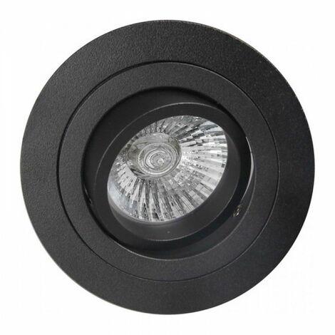 Ojo de buey led empotrable redondo color aluminio BASIC GU10 | Negro - 0