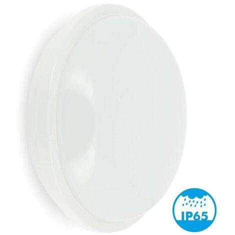 Ojo de buey o techo LED Exterior IP65 Redondo 20W Eq 120Watts | Temperatura de color: 4000K blanco neutro