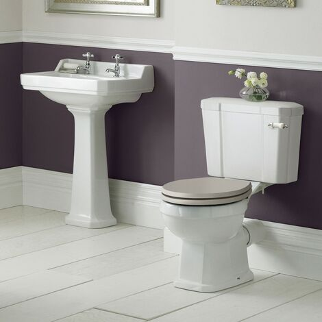 Old London Richmond Toilet & Basin Bathroom Suite - 2 Tap Hole