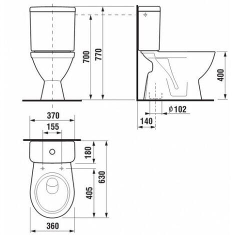 old pack wc lyra plus 3 6l sortie verticale 8263860002411. Black Bedroom Furniture Sets. Home Design Ideas