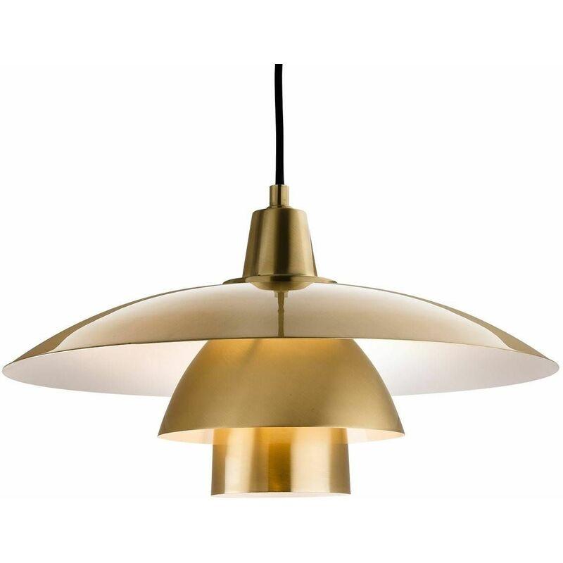 Image of Olsen pendant light, brushed brass