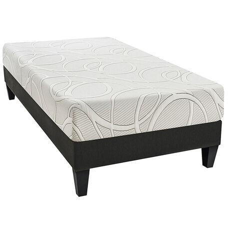 OLYMPE | Ensemble Poséidon 90x190 cm | Matelas Mémoire de forme + Sommier Bois | Ferme