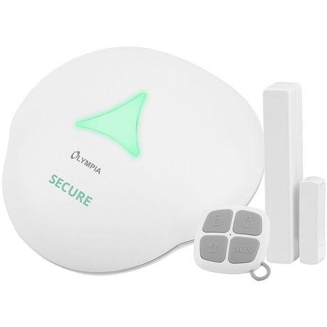 OLYMPIA Alarmanlage GSM bis zu 64 Sensoren und App steuerung Sirene (110 dB)
