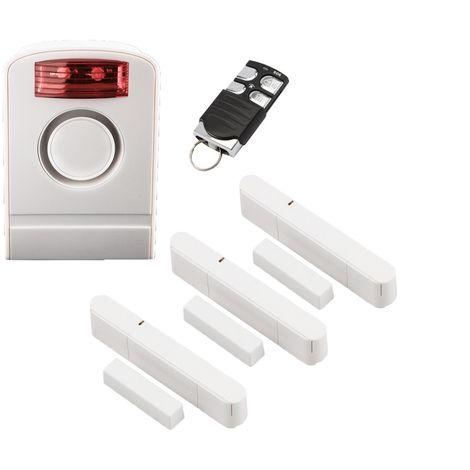 OLYMPIA Premium Spar-Set für die Olympia Alarmanlagen Protect 60xx 90xx Serie mit 1 Außensirene, 1 Komfort Fernbedienung und 3 Tür-/ Fensterkontakten
