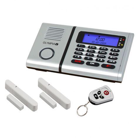 OLYMPIA Protect 6030 Drahtloses Alarmanlagen-Set mit 2 Tür-/Fensterkontakten