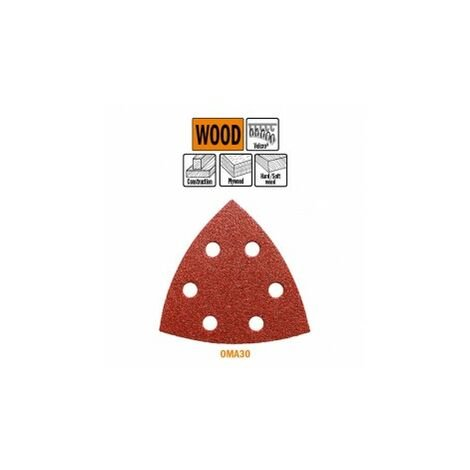 OMA30 93MM FEUILLE ABRASIVE TRIANGULAIRE – A L'OXYDE D'ALUMINIUM