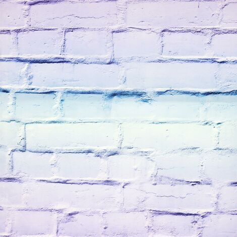 Ombre Brick 3D Effect Wallpaper Arthouse Lilac Mint Blue Stone Industrial