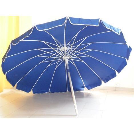 Ombrellone ALUSTAR diam. 220 cm alluminio palo 32mm, 16 strecche fibra vetro blu