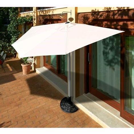 OMBRELLONE da giardino A PARETE mod. TARRAGONA PAPILLON Raggio 270 cm