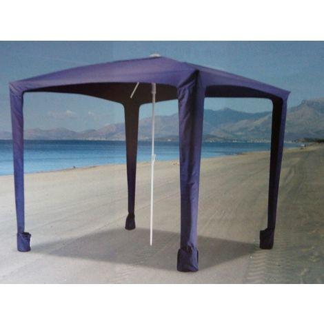 Ombrelloni Da Spiaggia Portatili.Ombrellone Da Mare A Gazebo Ombrelloni Con Picchetti Zavorra Antivento Sole 2x2