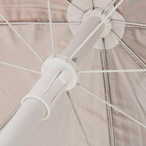 1,6 m Yello UV40 Ombrellone Parasole Protezione per Spiaggia e Giardino a Strisce Blu