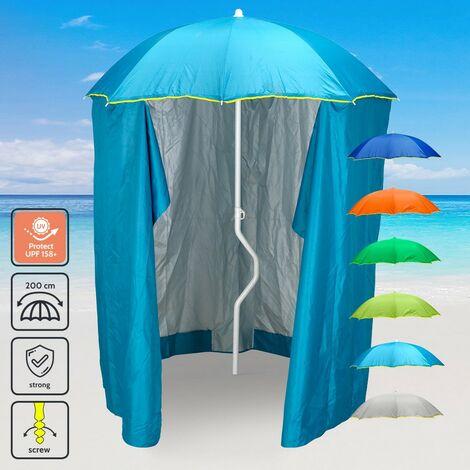 f1e84fcc5529 Ombrellone Spiaggia Anti Uv.Ombrellone Mare Girafacile 200 Cm Protezione Uv  Tenda Spiaggia Pesca