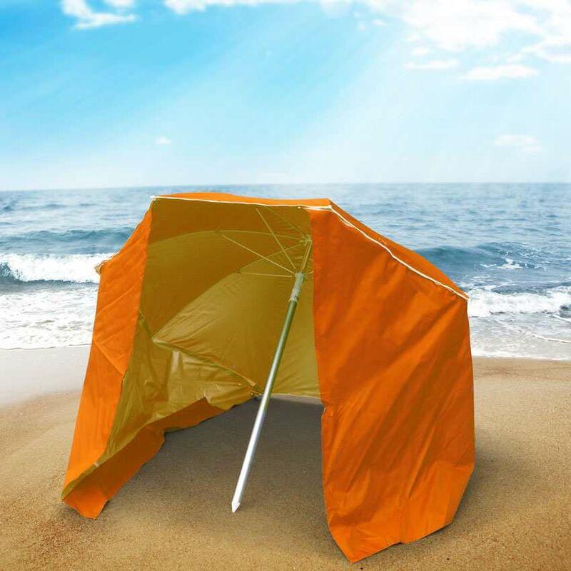 Ombrelloni Da Spiaggia Leggeri.Ombrellone Mare Portatile Moto Leggero Alluminio Spiaggia Tenda 200