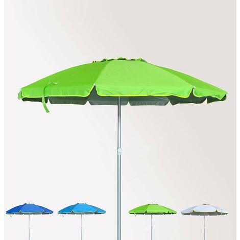 Ombrellone mare spiaggia 220 cm alluminio antivento protezione uv ROMA
