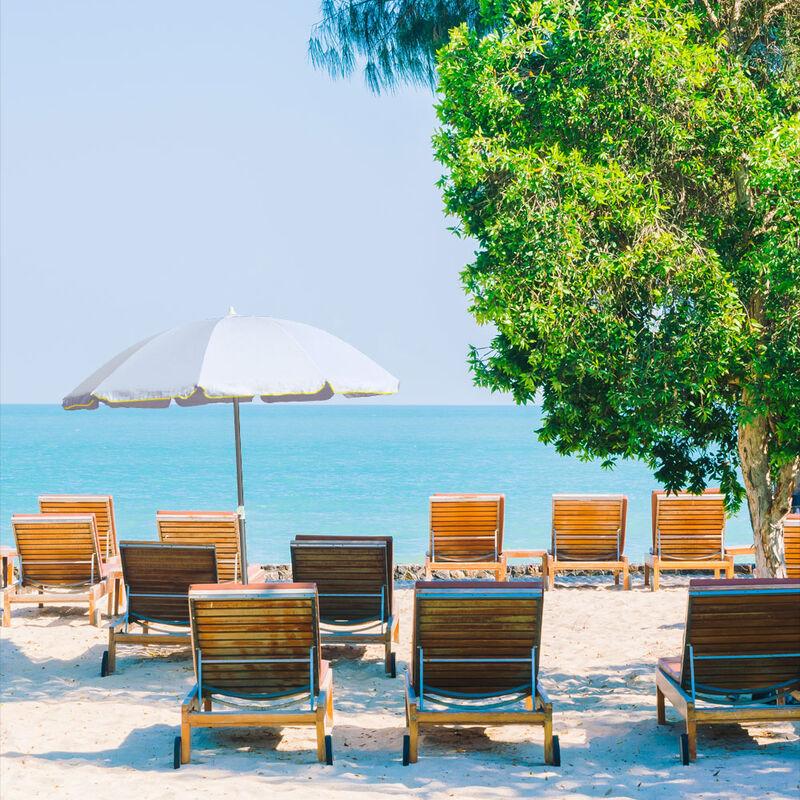 Diametro: 160 cm/… colorato Outsunny Ombrellone da Giardino//Spiaggia//terrazzo Stile Hawaii