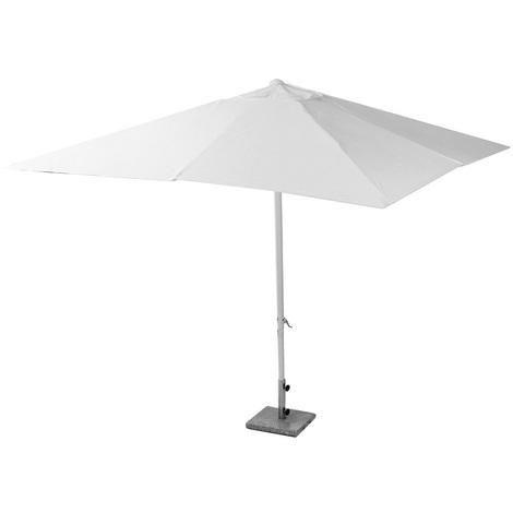 Ombrellone A Braccio 3x2.Ombrellone Ombrello Bar Giardino Mare Piscina Alluminio Bianco 3x2 M Per Terrazzo Balcone Trattamento Antiruggine