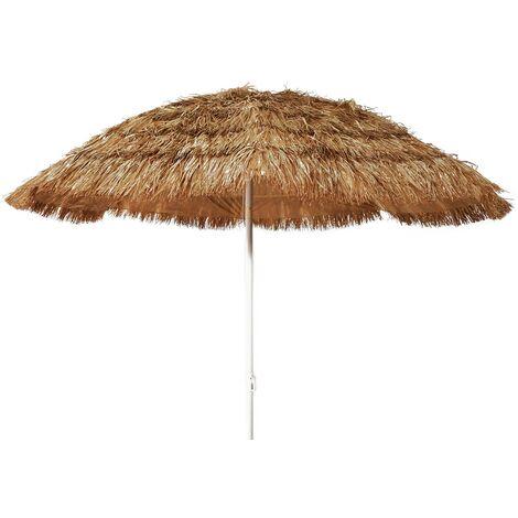 Ombrellone Paglia Mare Spiaggia Tropicale Stile Hawaii in Rafia Sintetica 220 cm 48080