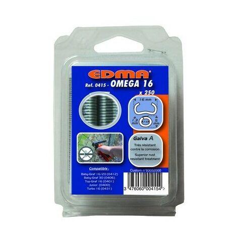 OMEGA 20 ZAUNRINGE - Verzinkt grün - 1000 Stk. - EDMA