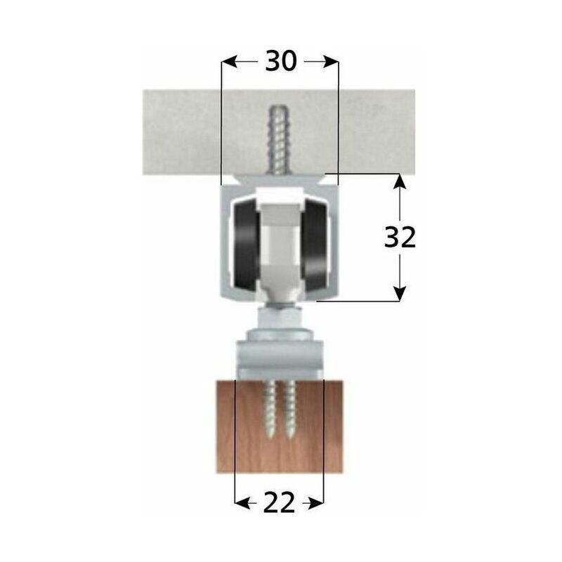 Omge Kit Guida Per Porte Scorrevoli Kg80 Cm.150 ...