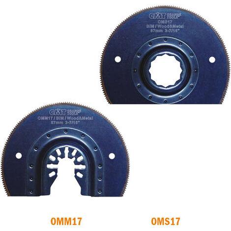 OMM-OMS-17 87MM LAME SEGMENTEE POUR BOIS ET METAL