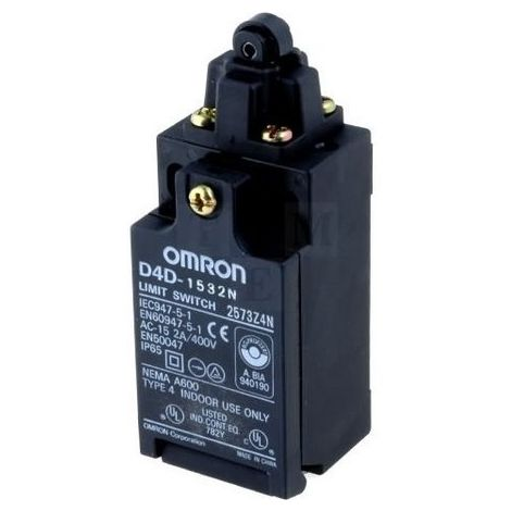 Omron D4D-1532N limit switch - 1O + 1F - Roller Lever