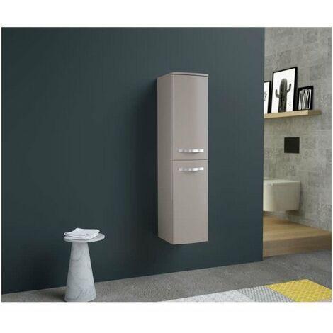 ONDE Colonne de salle de bain L 30cm - Taupe brillant