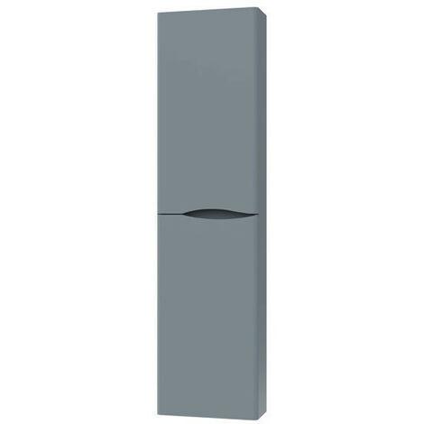 Ondée - Colonne extra-plate à suspendre 155 x 40 x 17 cm deux portes coloris gris - 2DOO